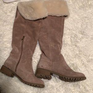 Bijorndal suede knee high boots